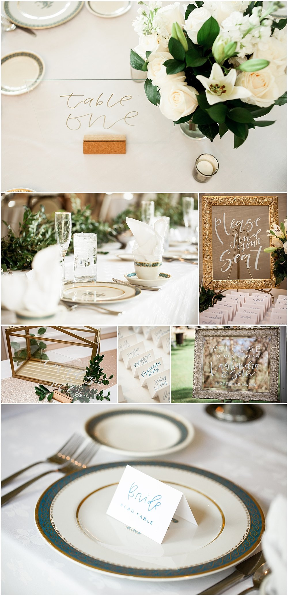gold and blush wedding details erie pa wedding photographer