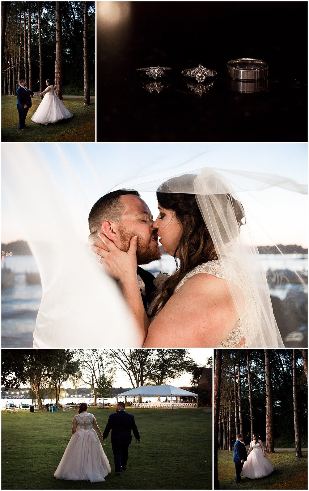 bride and groom golden hour portraits erie pa wedding photographer