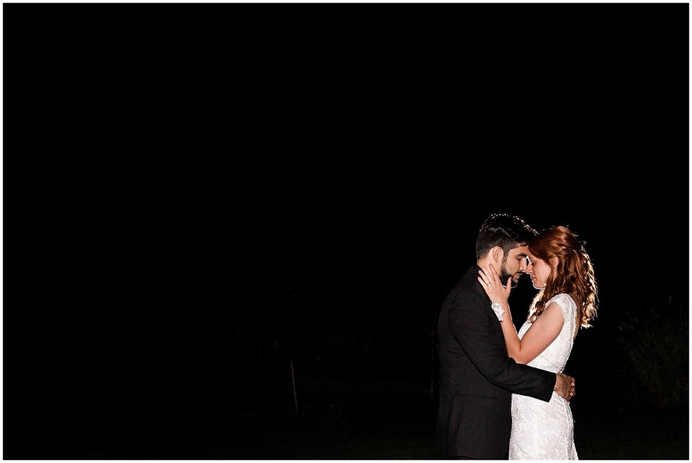 night time portrait bride and groom the club at shadow lakes beaver pa