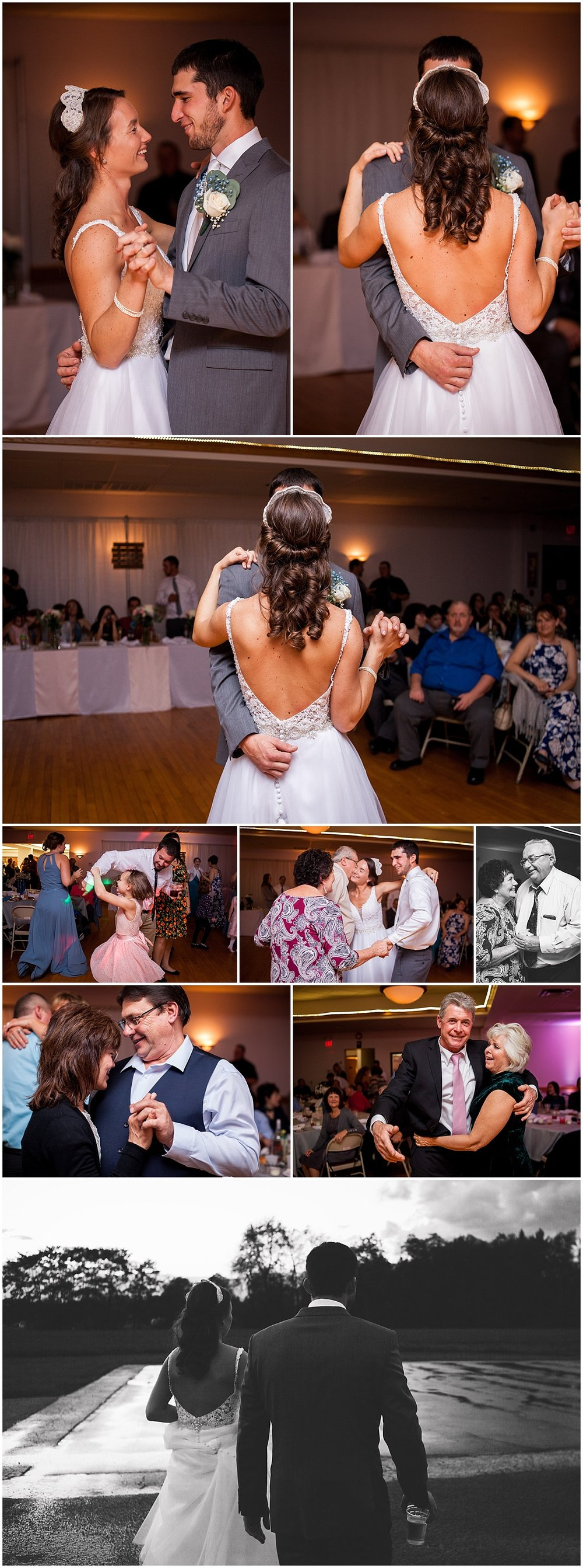 first dance and reception dancing herman firehall butler pa wedding photographer
