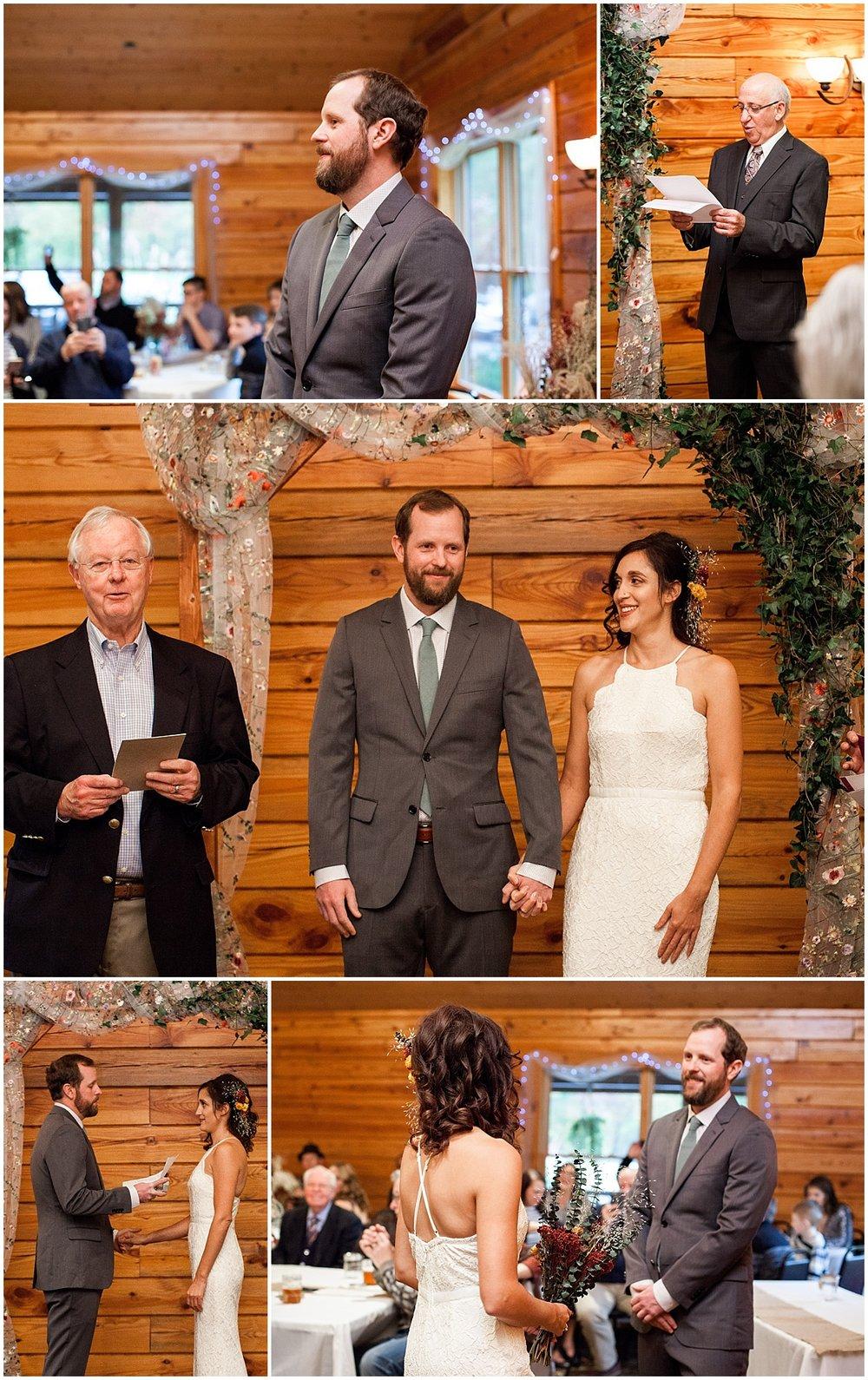 vegan bride and groom in Sewickley PA exchanging vows