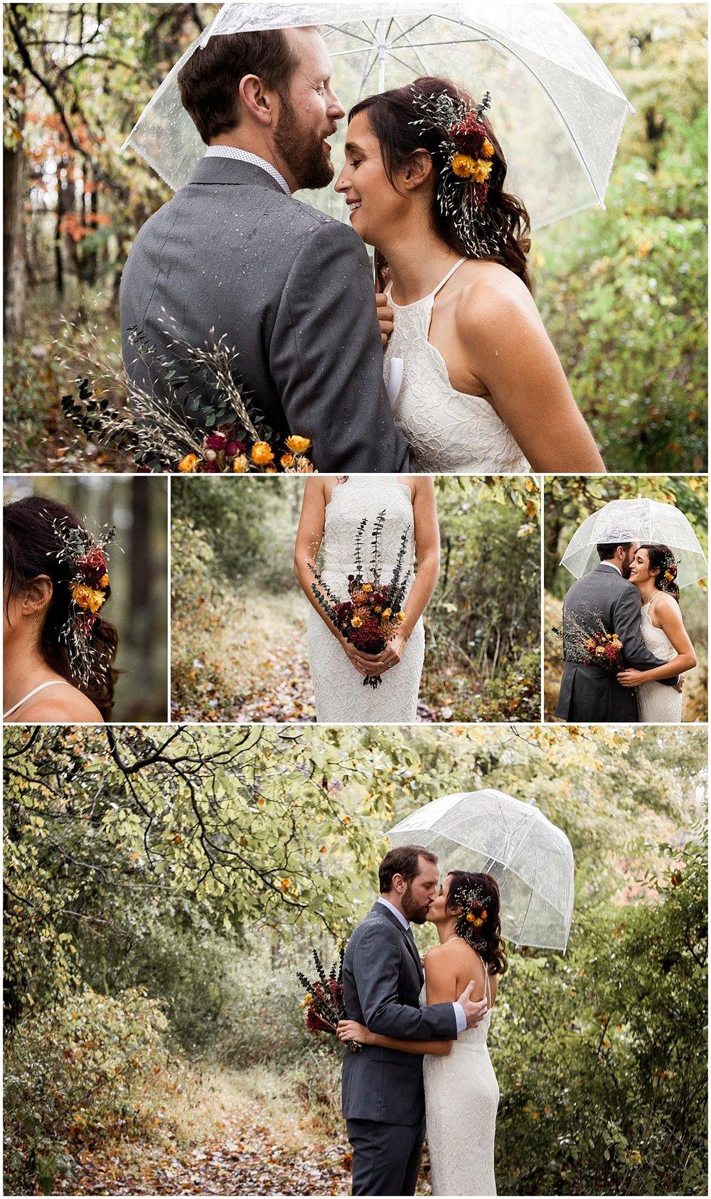 bride and groom vegan wedding in sewickley pa