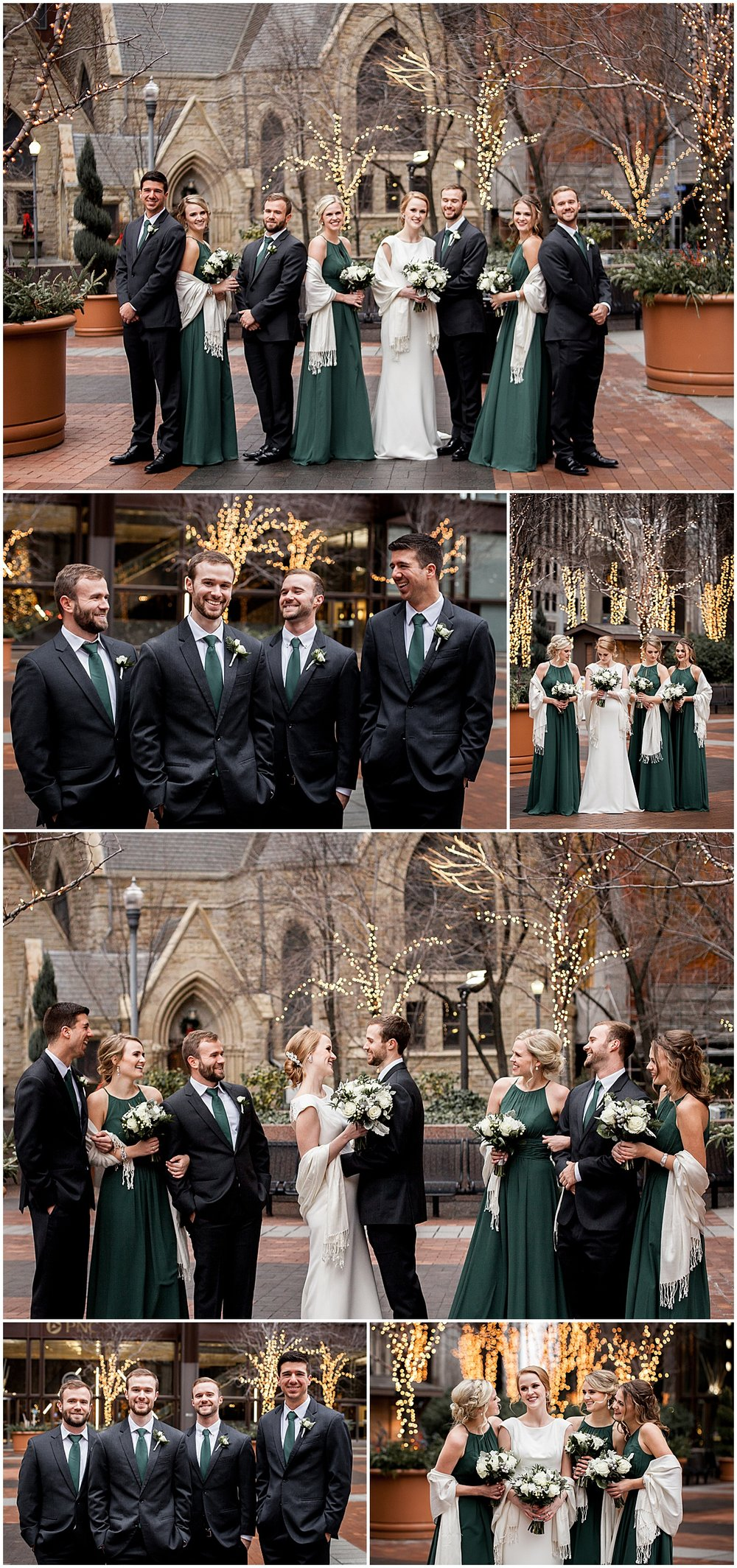 pittsburgh downtown wedding party photos