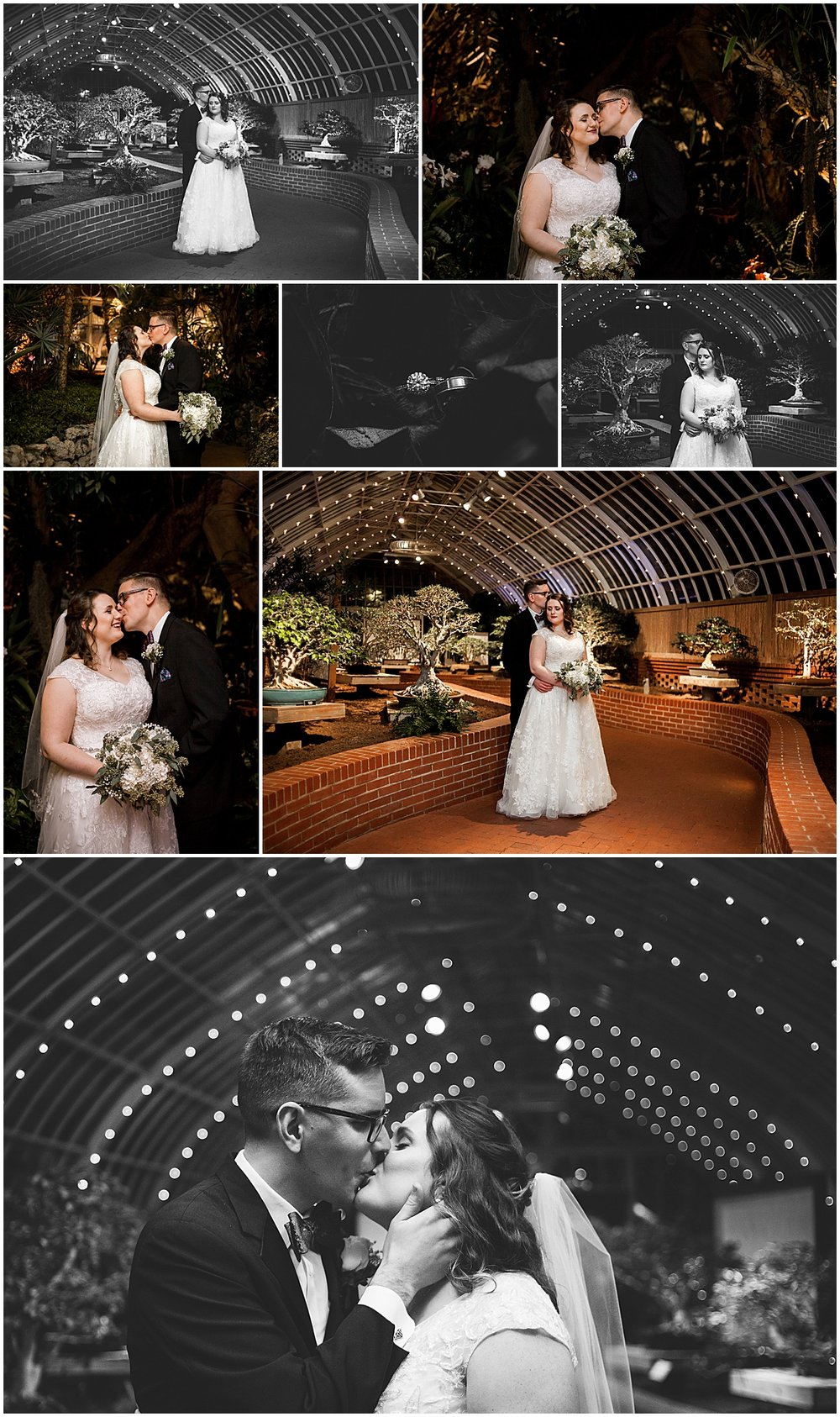 bride and groom portraits phipps conservatory pittsburgh