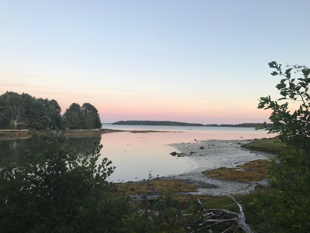 Sunset view from the tip of the peninsula at Winslow State Park