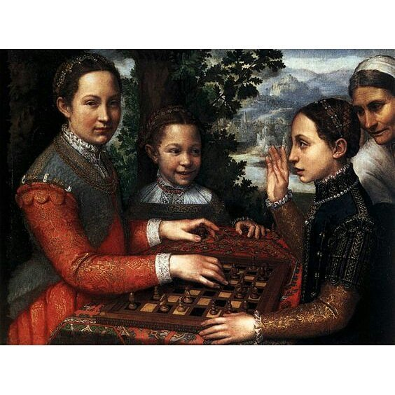 Portrait of the Artist's Sisters Playing Chess - Sofonisba Anguissola, 1555