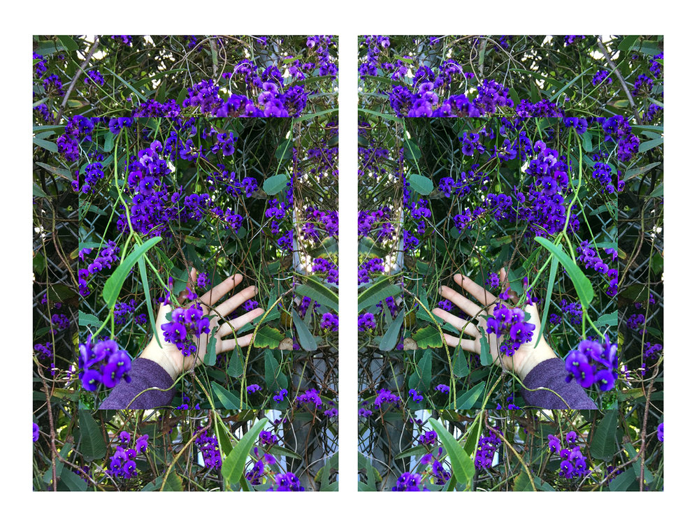 Site I (Self-portrait), 2016   Diptych, Imagery printed on mirror