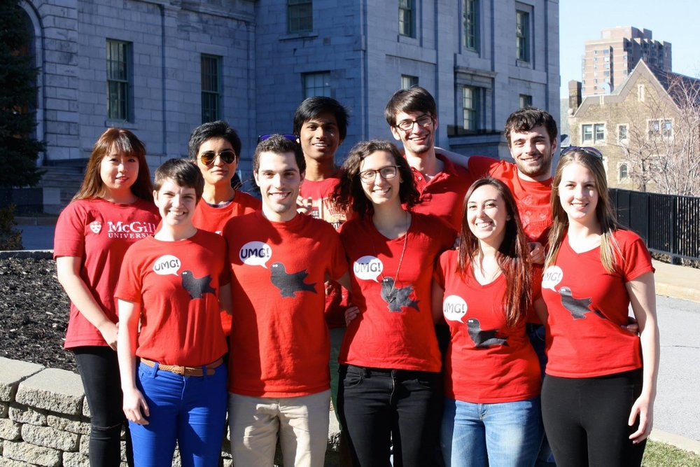 UMG team in 2015. Back row, from left: Chrissy Shi, Chris Hedge, Pranay Yadav, David Marchionni, Philip Hoddinott. Front row, from left: Katie Thompson, Max Blumberg, Cara Neel, Becca Sheinbaum, Erin Mitchell.