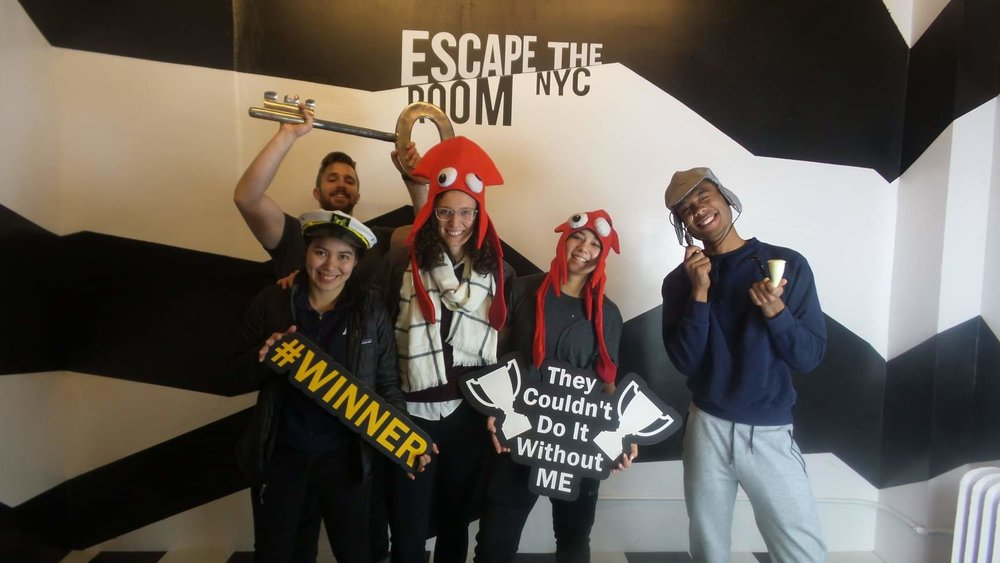 Our winning escape room team.