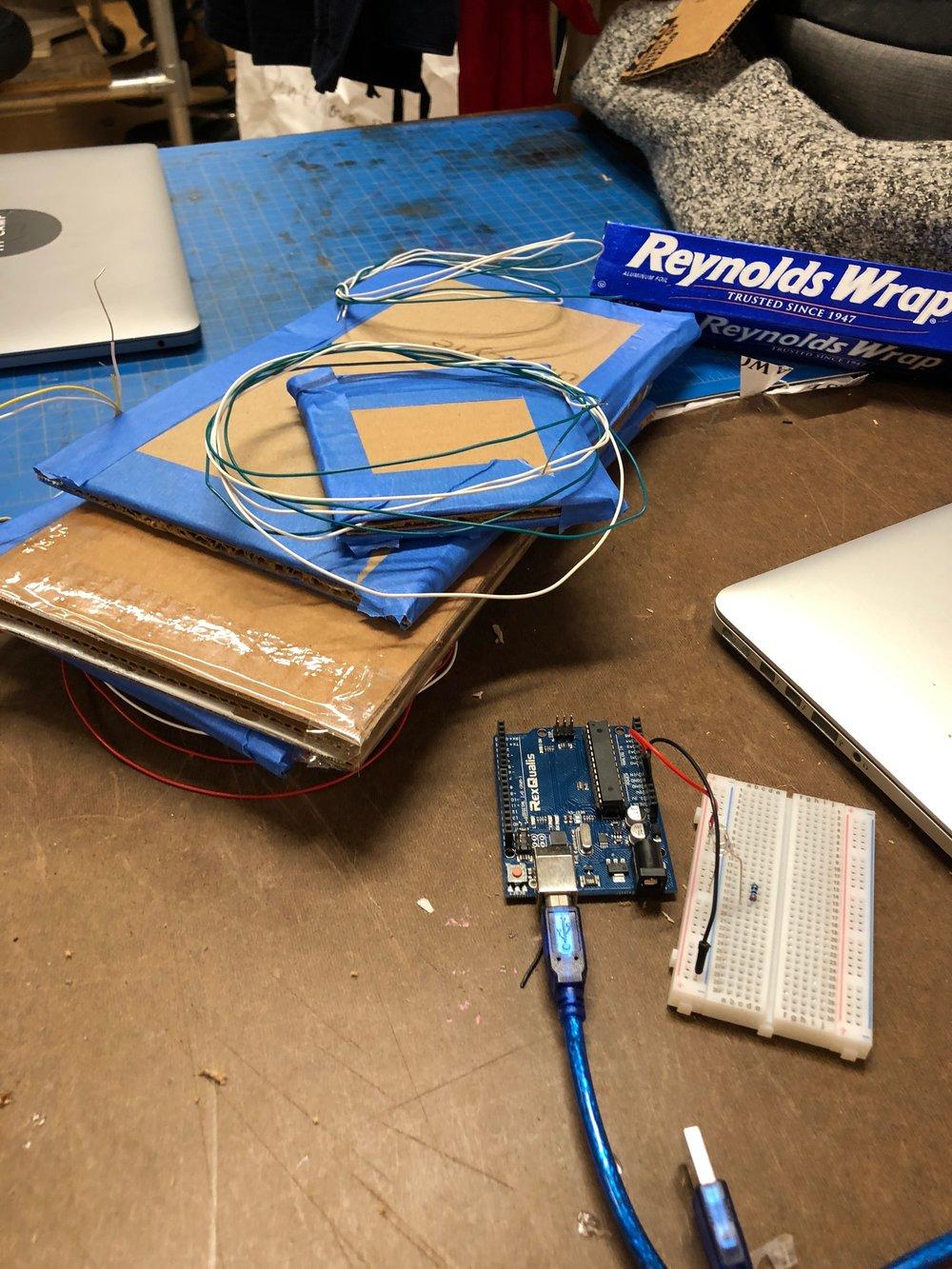 Homemade plate sensors