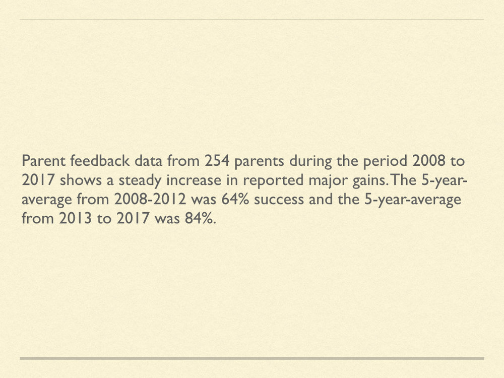 Click on image to view parent comments from 2017.