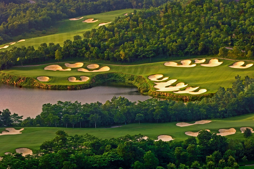 One of many (many) golf courses at Mission Hills in the Shenzhen region of China.