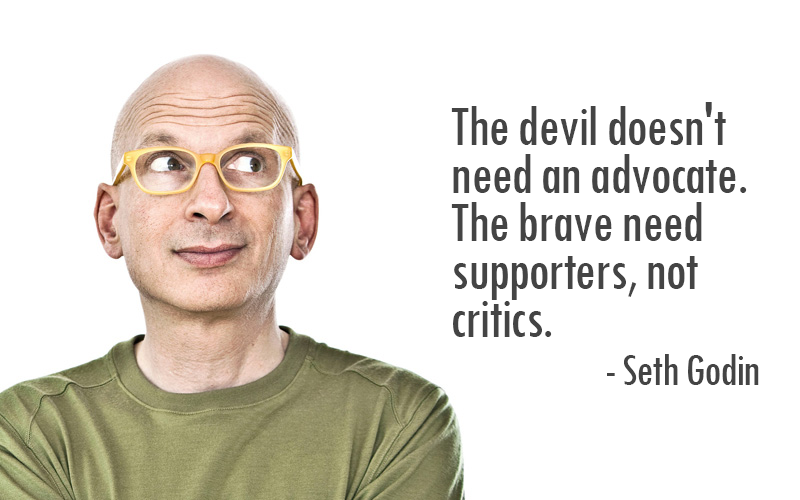 Uninvite the devil's advocate, since the devil doesn't need one, he's doing fine.
