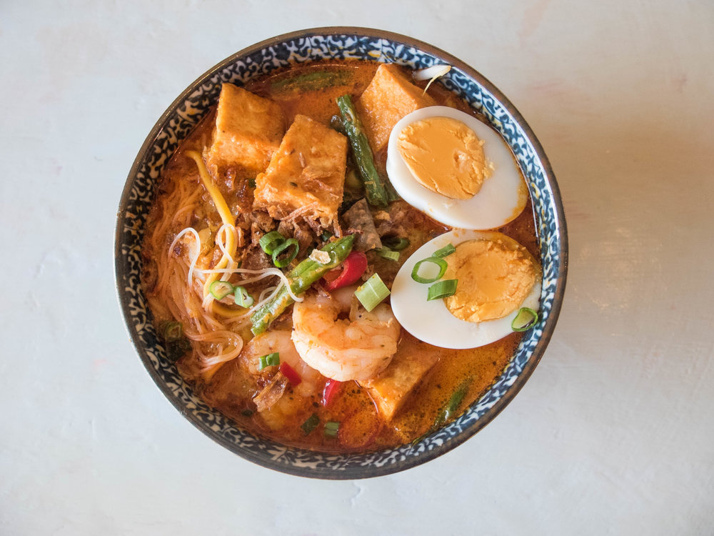 A spicy curry bowl