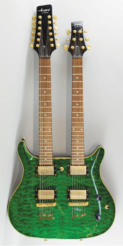 Acepro double neck electric guitar, estimate £150-250