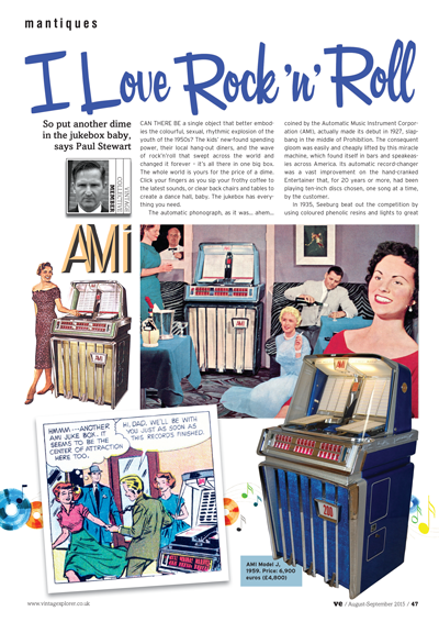 ISSUE 23 - AUG/SEPT 2015 - JUKEBOXES So put another dime in the jukebox baby, says Paul Stewart