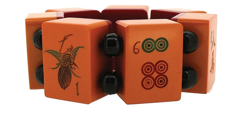 1930s Bakelite Mahjong Bracelet