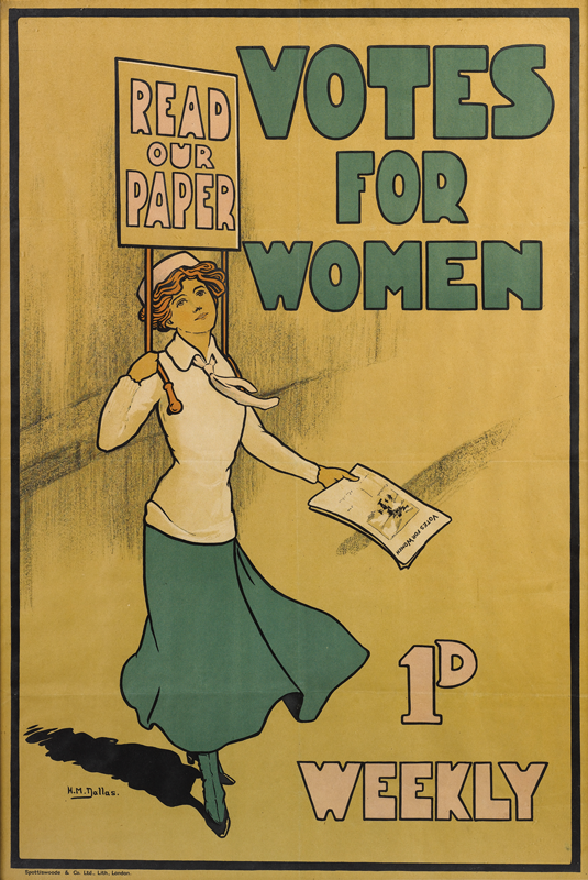 A poster for the Pethick-Lawrences' paper, from around 1910, sold at Bonhams in 2008 for more than £1,000