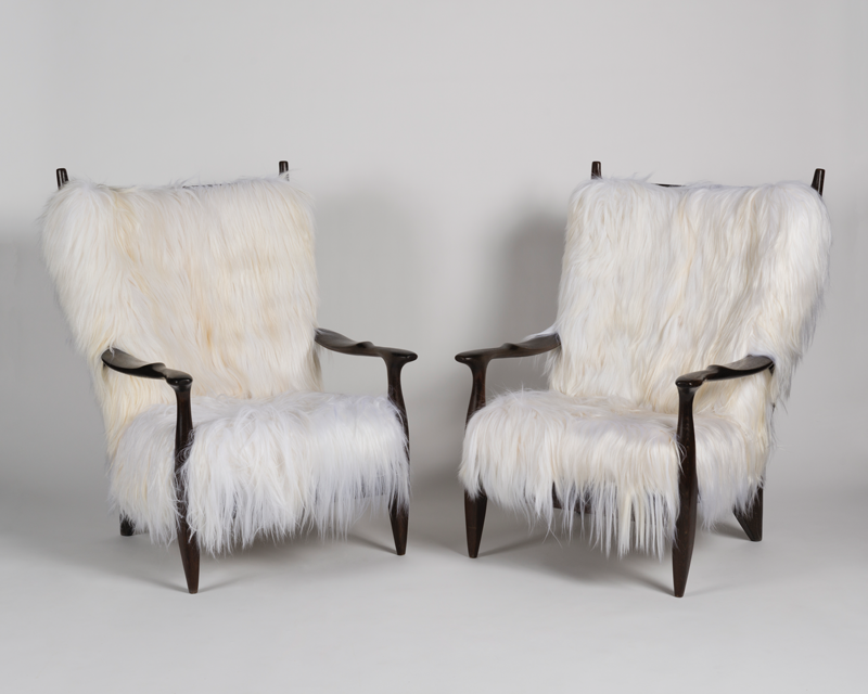 Ebonised chairs from Guillerme and Chambron