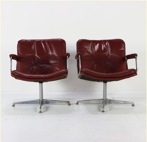 Leather lounge chairs by Geoffrey Harcourt for Artifort