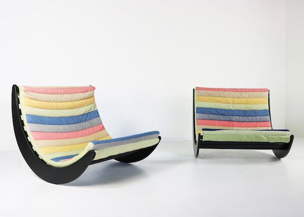 1970s pair of Verner Panton chairs for Rosenthal Studio Line