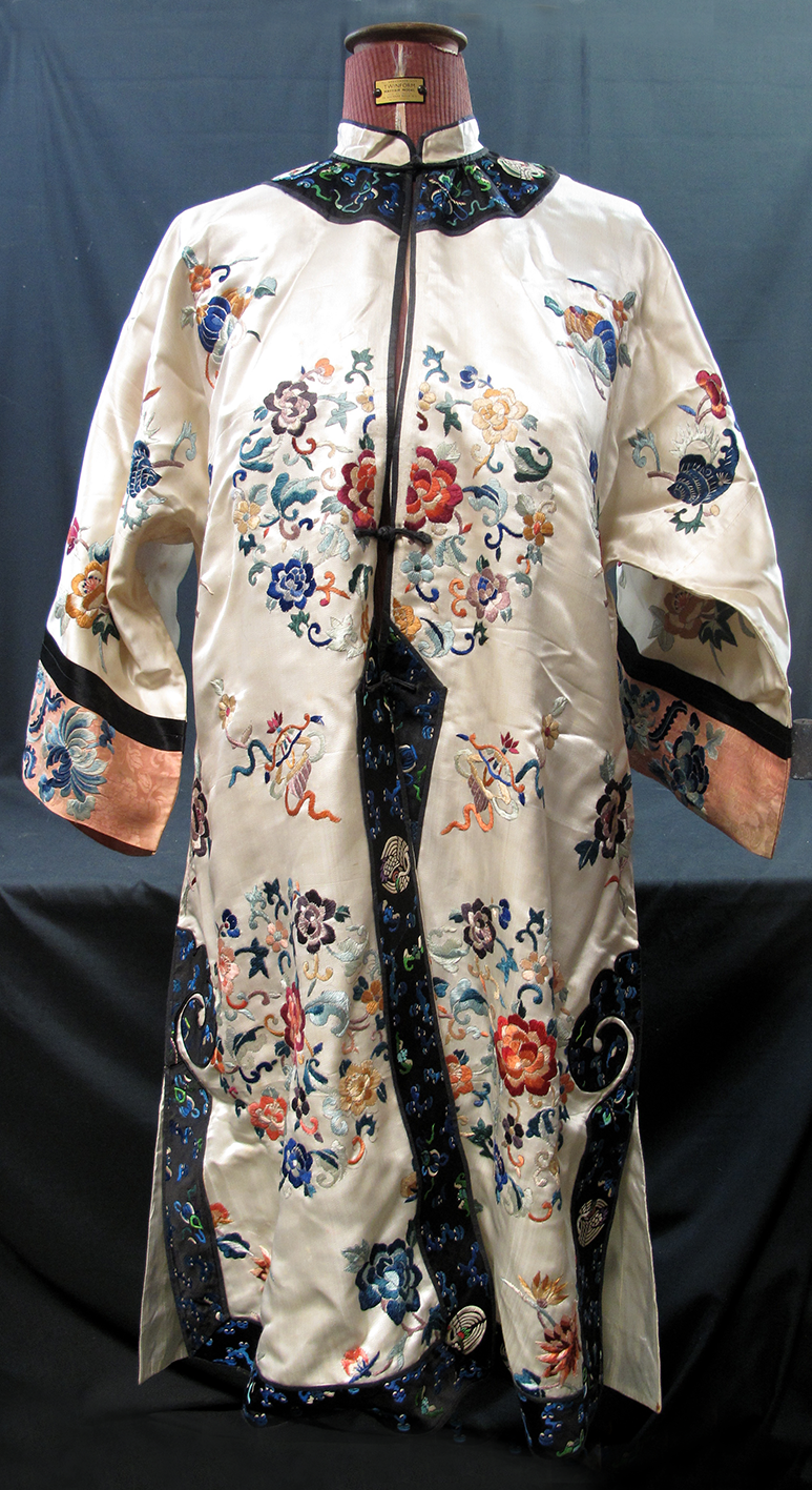 Lot 29 - Early 20th Century embroidered Chinese robe.  Estimate £150-250
