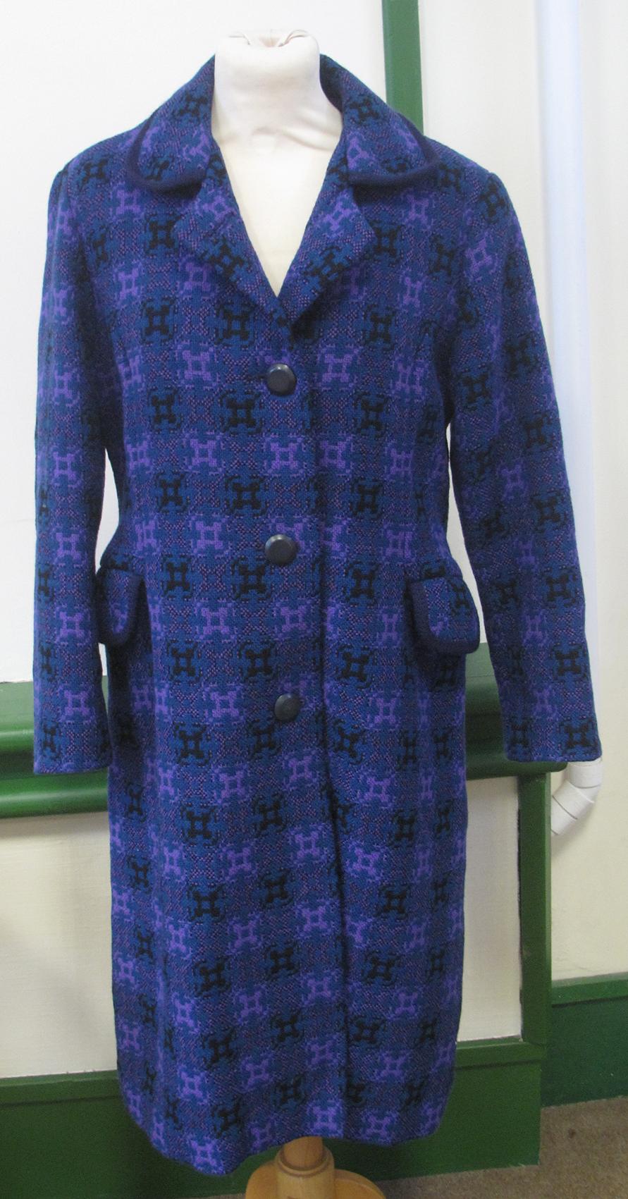 Lot 54 - A vintage Welsh tapestry ladies coat by Reseta of Wales.  Estimate £40-60