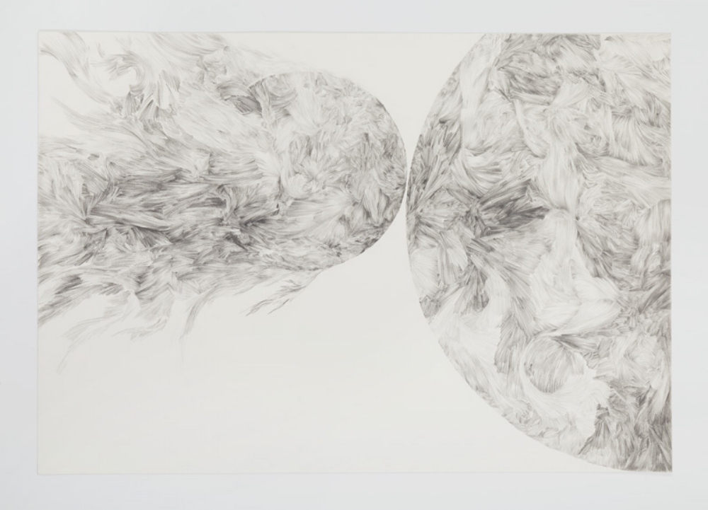 Drawing:  Proximity : Becoming. drawing size 510 x 354 mm