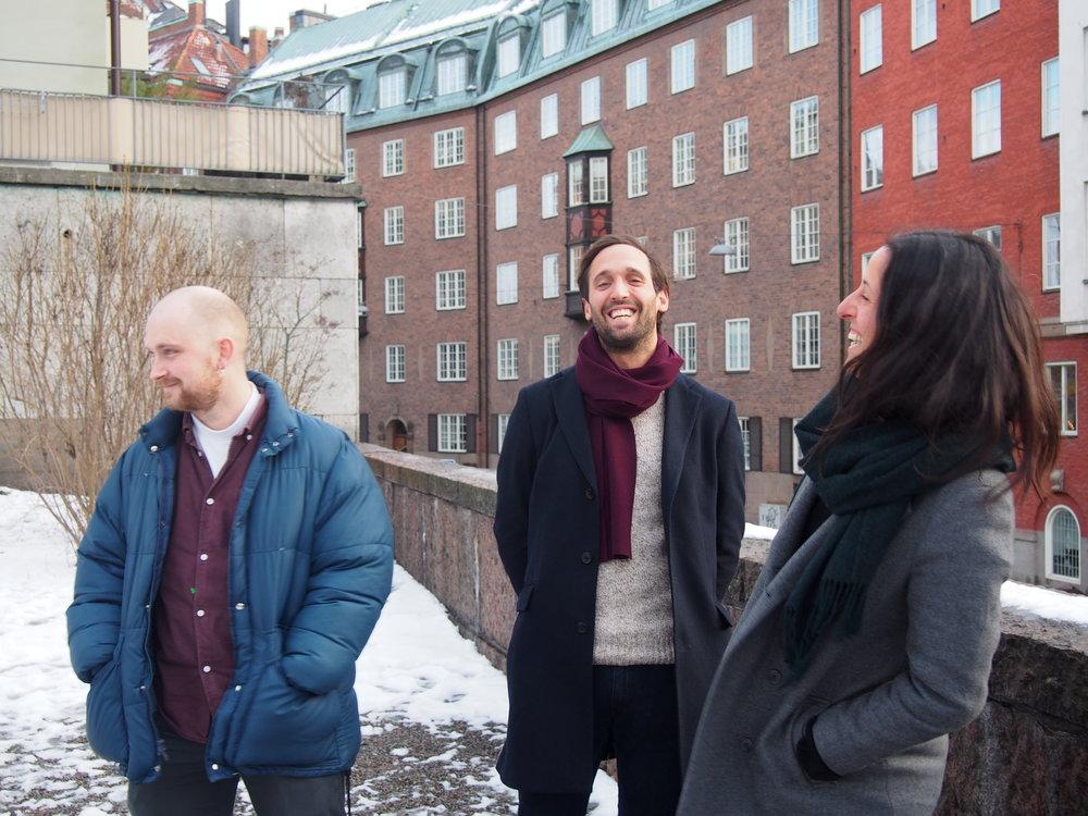 Ville, Mark och Dea som varit med från början