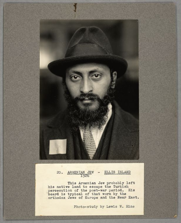 FIgure 2: Armenian Jew, Ellis Island (Source: The Miriam and Ira D. Wallach Division of Art, Prints and Photographs: Photography Collection, The New York Public  Library Digital Collections, 1926).