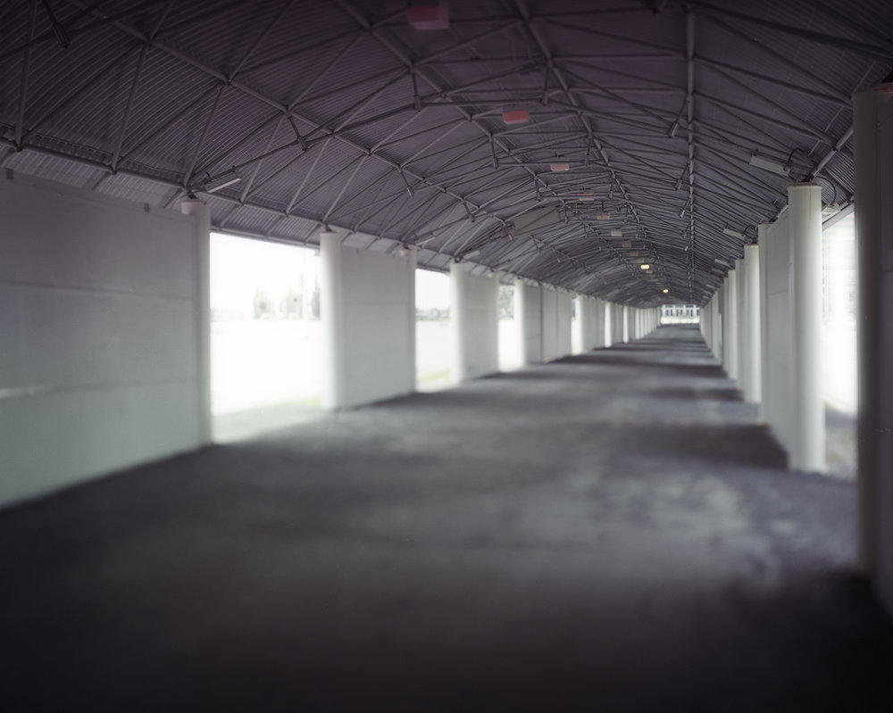 "Figure 3: Expired 0002: Canadian Tire Centre Parking Lot Tunnel (Source: Machinski, 2018).  The future of this stadium is uncertain as the hockey team is relocating.  The sheer size of the stadium complex makes its expiry almost unthinkable although inevitable due to commerce and the march of ""progress""."