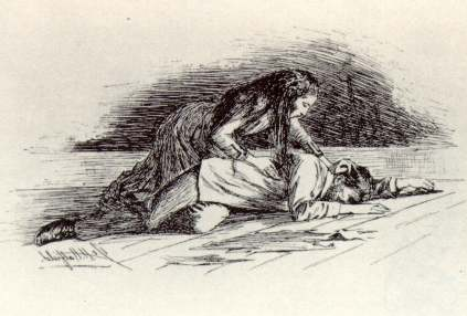 Original illustrations from the story as published in the New England Magazine 1892