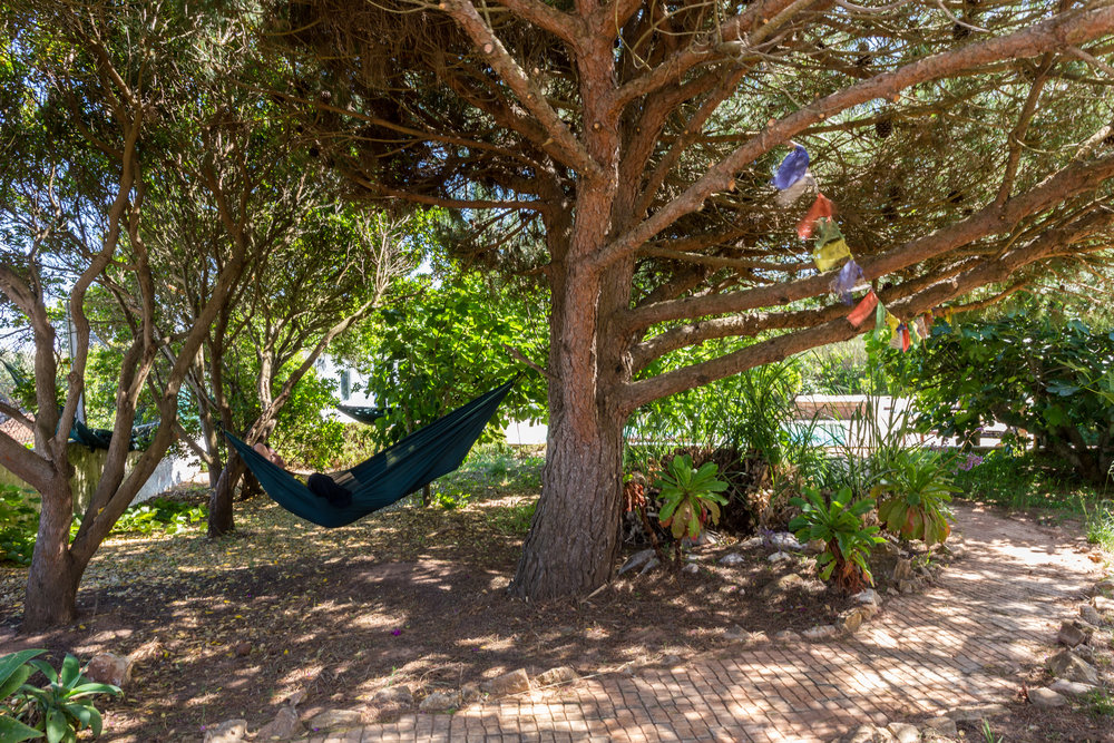 Summer, time to relax and enjoy some hammock time at the Yoga Villa.
