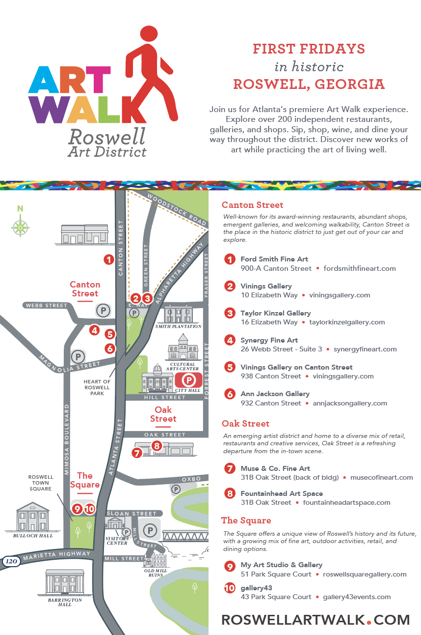 Download a Map of the   Roswell Art District