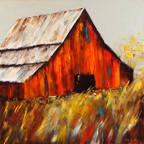 Good Ol' Days 40x40 oil on canvas By Sparks.jpg