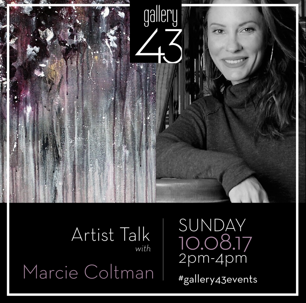 Marcie Coltman Artist Talk at gallery43
