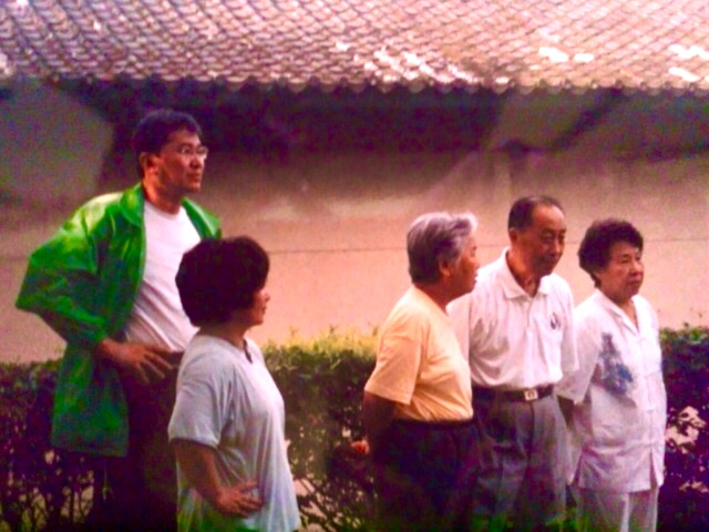Kaneiki Sensei with Master Wang Yen Nien and other group members