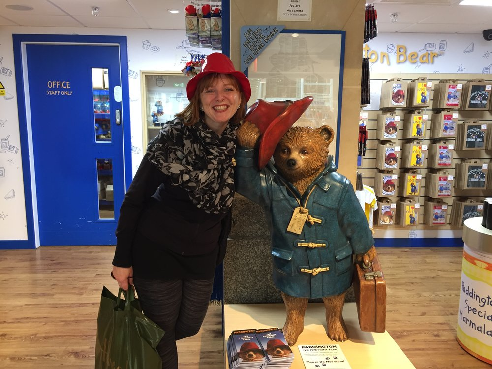Although Paddington always has his trusted suitcase by his side... I chose a Harrod's bag instead!