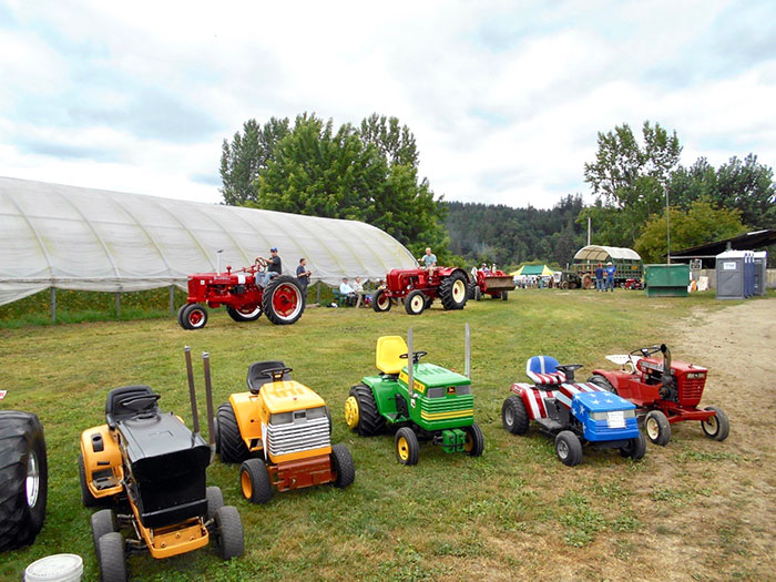 Garden tractors are a welcome addition at Northwest Vintage Iron Club shows.