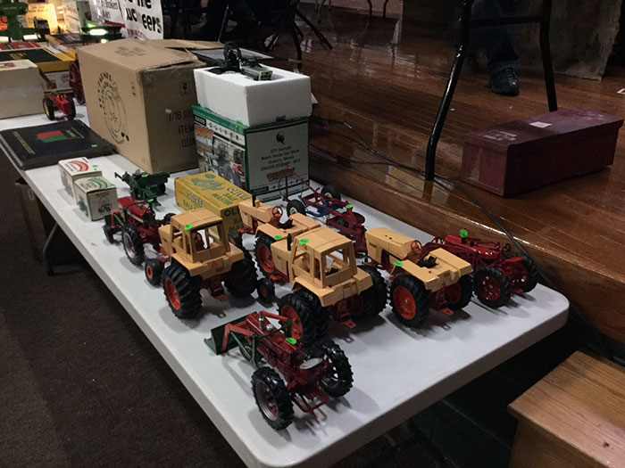 Farm toys at the National Farm Toy Show in Dyersville, Iowa, on the first weekend in November
