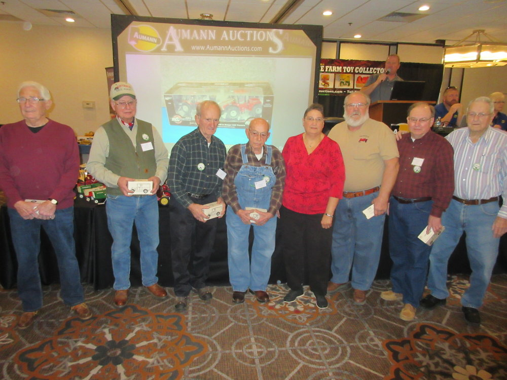The founding members of the Getaway Mid-America Toy Show were recognized before the auction.