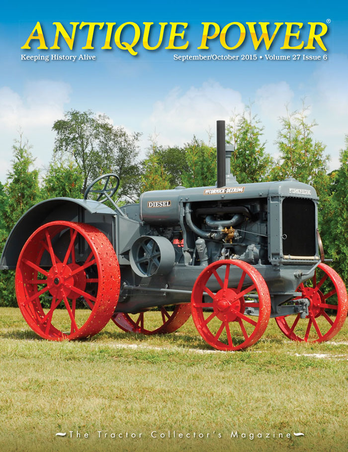September/October 2015 Antique Power cover