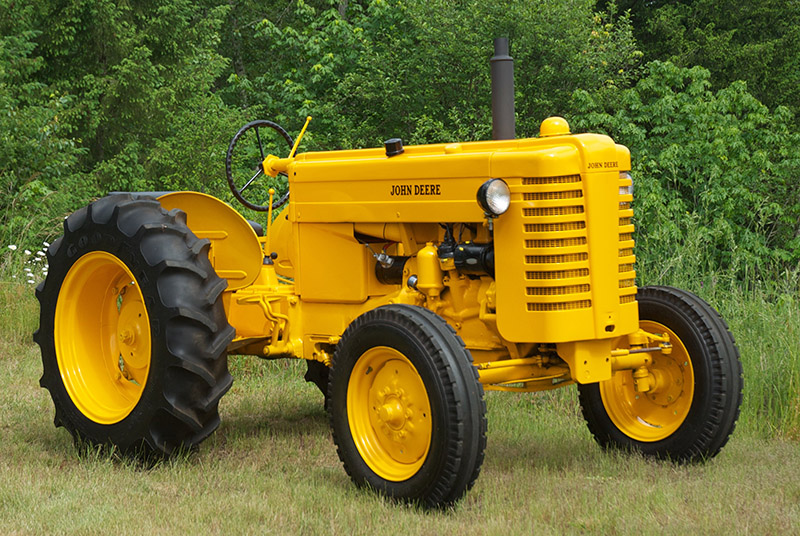 This 1952 John Deere model MI, featured in the  Sept./Oct. 2015  issue of  Antique Power,  is the industrial variant of the standard John Deere model M, on which Test No. 387 was conducted at the Nebraska Tractor Test Lab on Oct. 6-16, 1947. By odd coincidence, the test for this featured model consecutively followed Test No. 386 for the previously featured tractor above, the Farmall Cub.