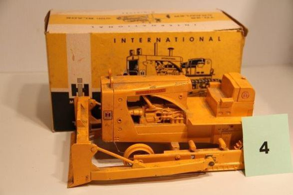 This is one of the construction toys that will be auctioned along with trucks from the Loudenslager Trust Farm Toy Auction.