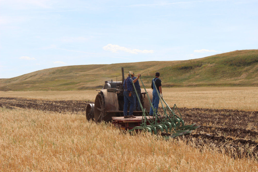 The plowing recaptured the feeling of the past with heavy tractor power, challenging the prairie. Plowing is a lost art in many areas, but these crews did it well.  Photo Luke Steinberger