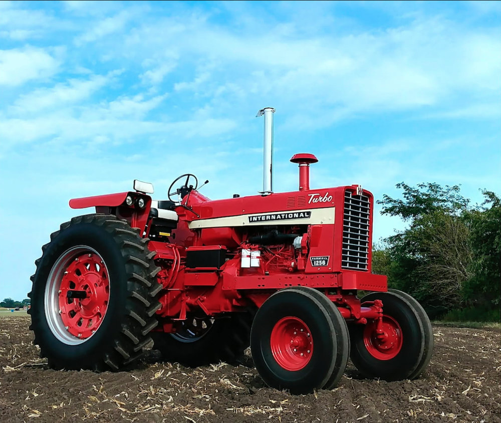 This 1968 International 1256 Turbo diesel tractor is one of over 400 tractor being auctioned by Mecum at the company's Spring Classic in Davenport, Iowa.  Photo Mecum Auctions