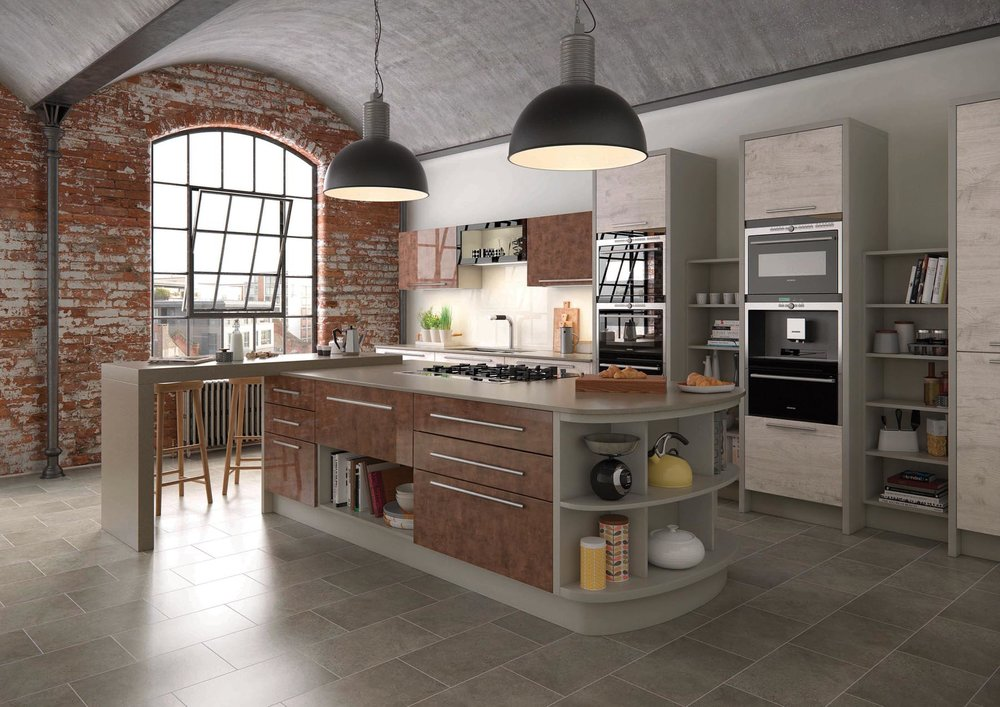 Mereway Kitchens Cucina Colore Gloss Cooer Treviso Light Oak From Maurice Prewett