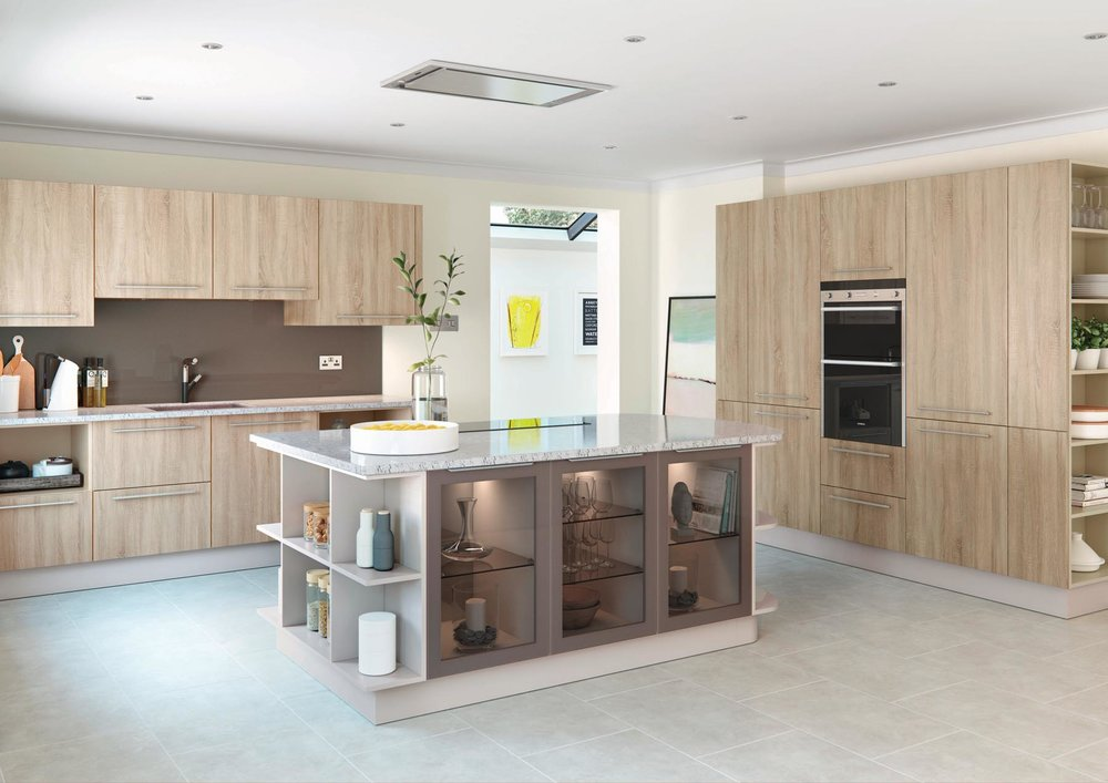 Mereway Kitchens Town & Country Harrow Grey Bardolino and Cashmere at Maurice Prewett