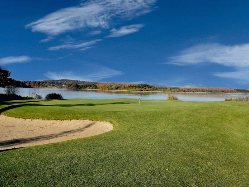 Tulfarris Hotel and Golf Resort 10th green sunny day.jpg