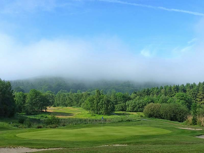 Tulfarris Hotel and Golf Resort The 6th hole on a  foggy day.jpg